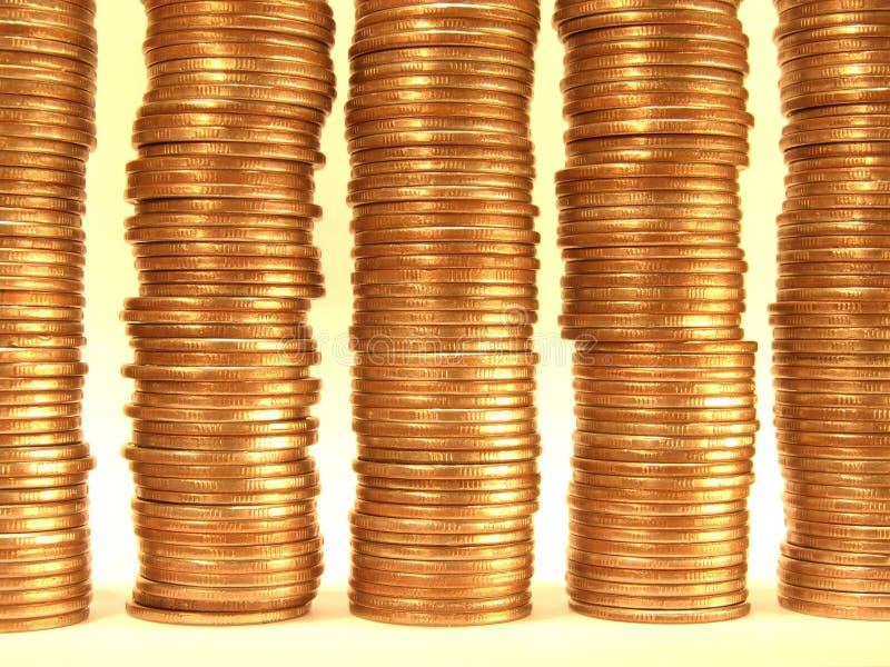 Moedas de ouro. imagens de stock royalty free