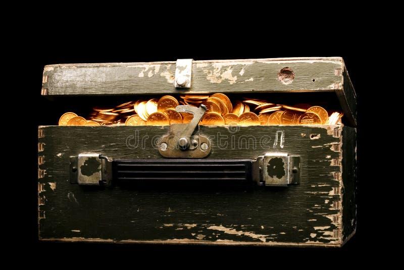 Moedas de ouro imagens de stock