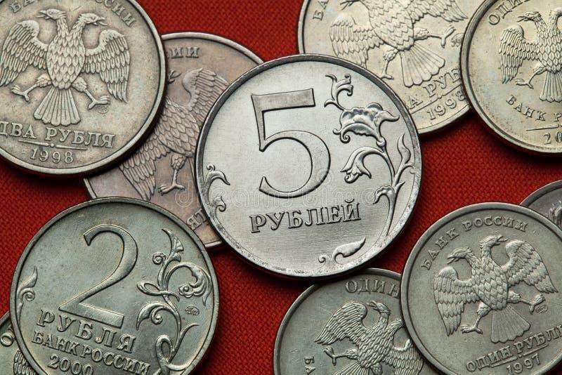 Moedas de Rússia fotos de stock