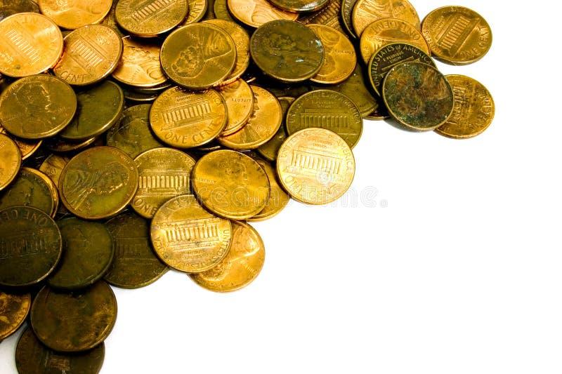 Moedas De Um Centavo Fotografia de Stock