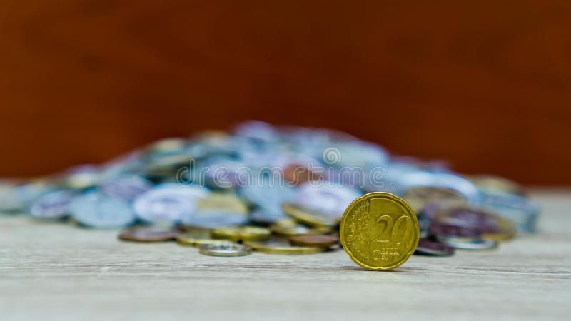 20 moedas do centavo fotografia de stock royalty free