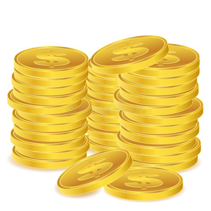 Download Moedas do dólar ilustração stock. Ilustração de pagar - 16870536