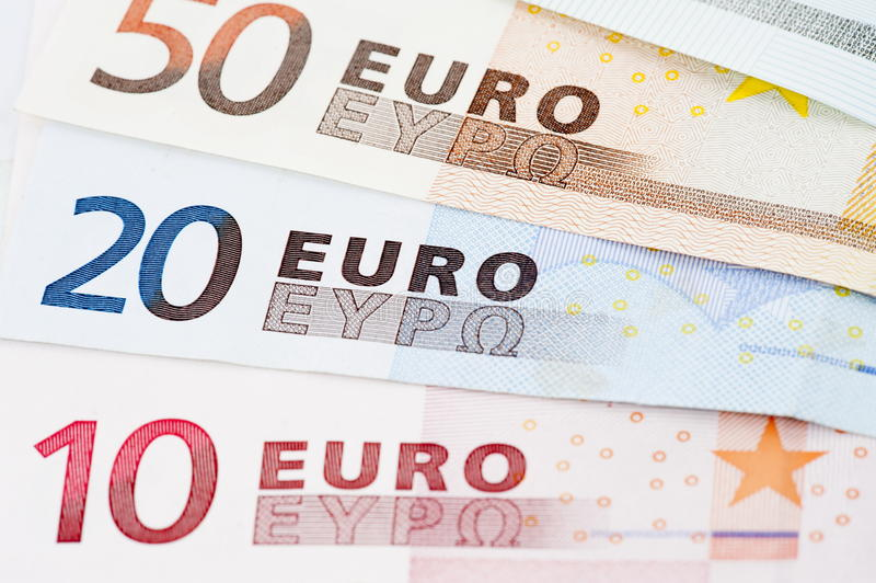 Moedas do Euro foto de stock royalty free