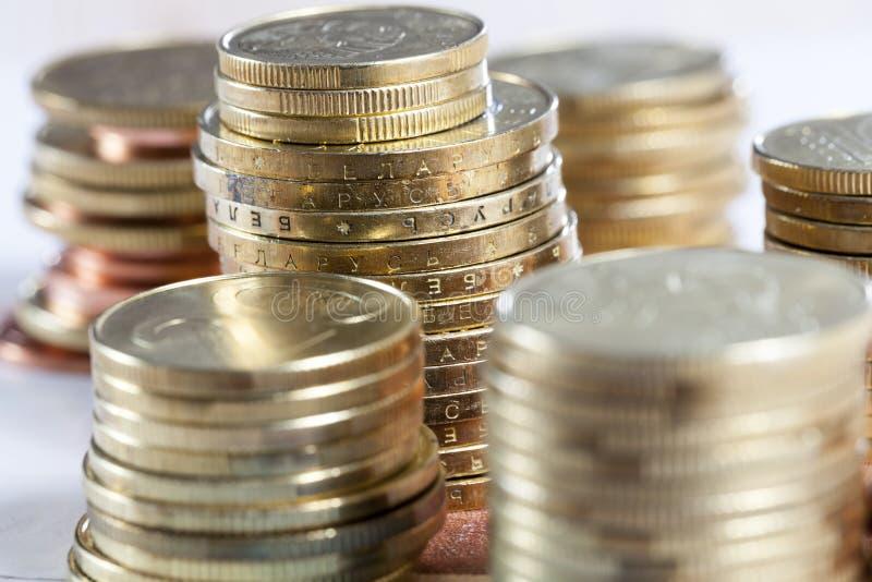 moedas do metal fotografia de stock royalty free