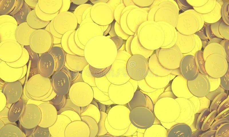 Moedas douradas imagem de stock