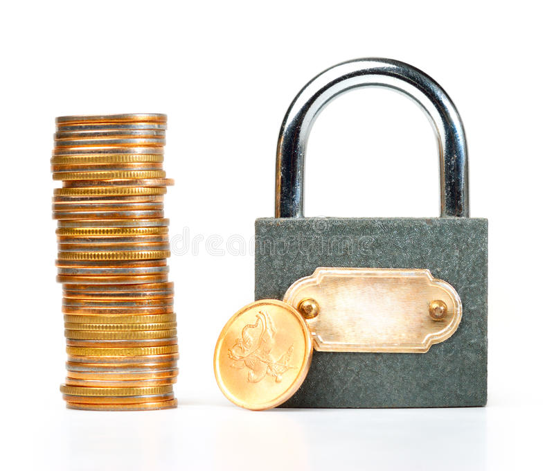 Moedas Locked fotos de stock