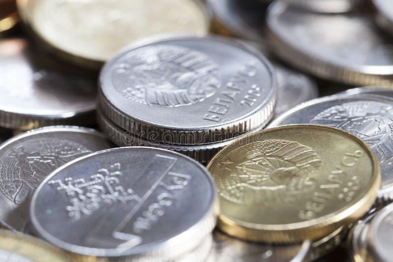 moedas misturadas de Bielorrússia fotos de stock