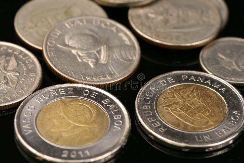 Moedas panamenses foto de stock royalty free