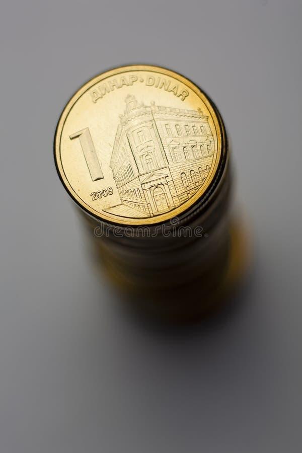 Moedas sérvios do dinar fotos de stock royalty free