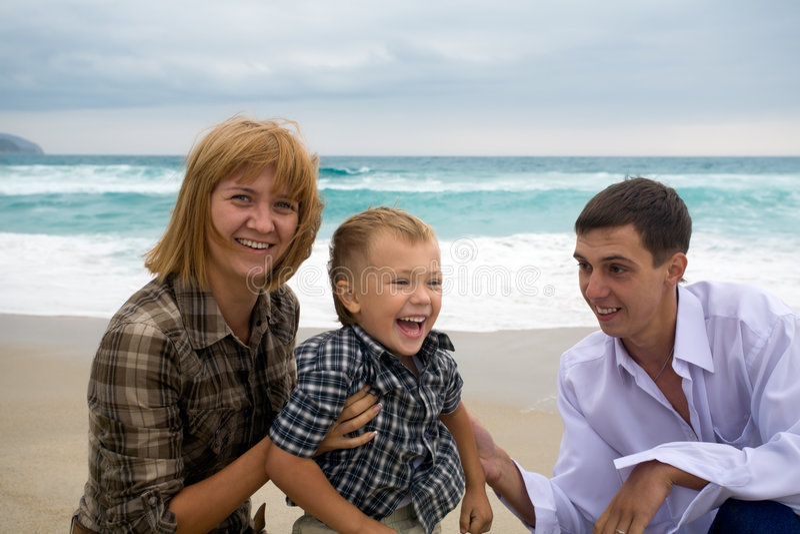 Moeder & zoon & mens royalty-vrije stock afbeelding