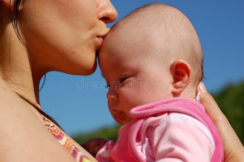 Moeder en baby #11 stock fotografie