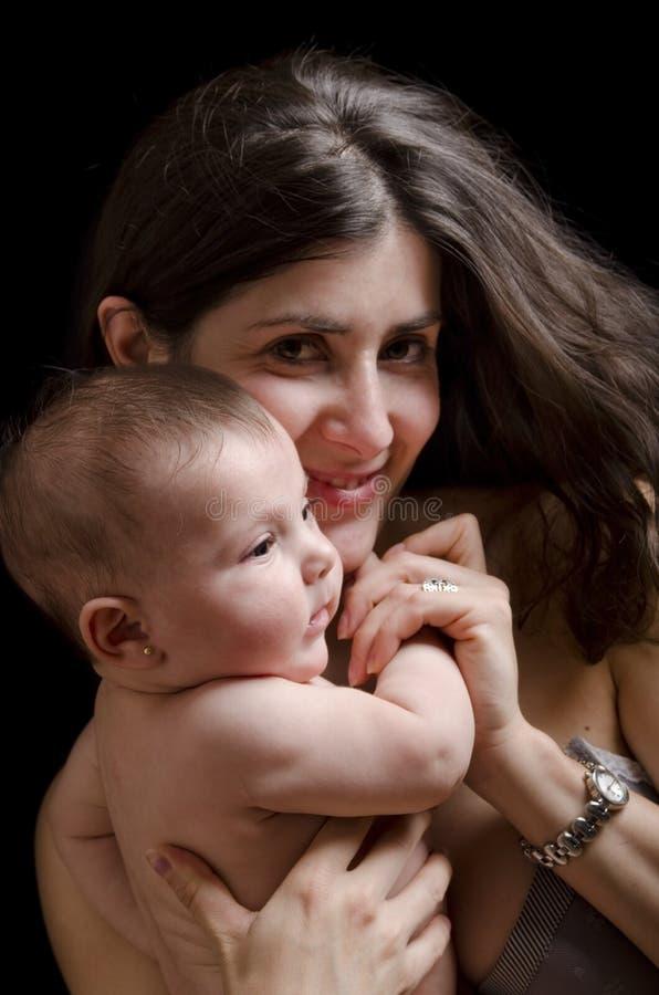Moeder en baby. royalty-vrije stock foto