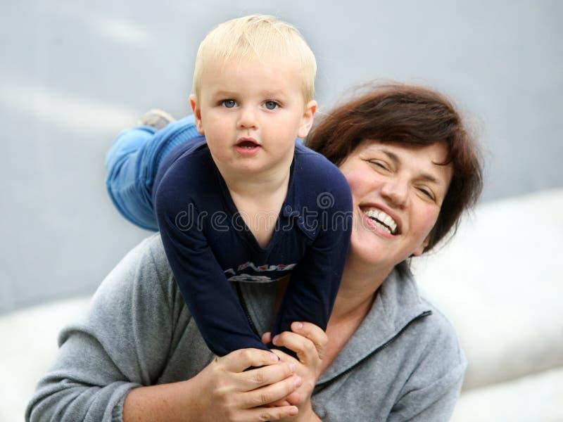Moeder en baby stock foto's