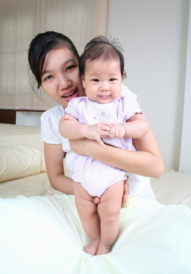 Moeder en baby 4 stock afbeeldingen
