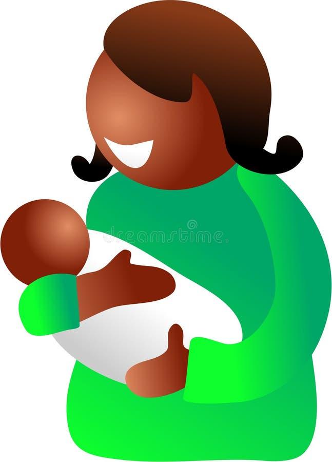 Moeder en baby vector illustratie