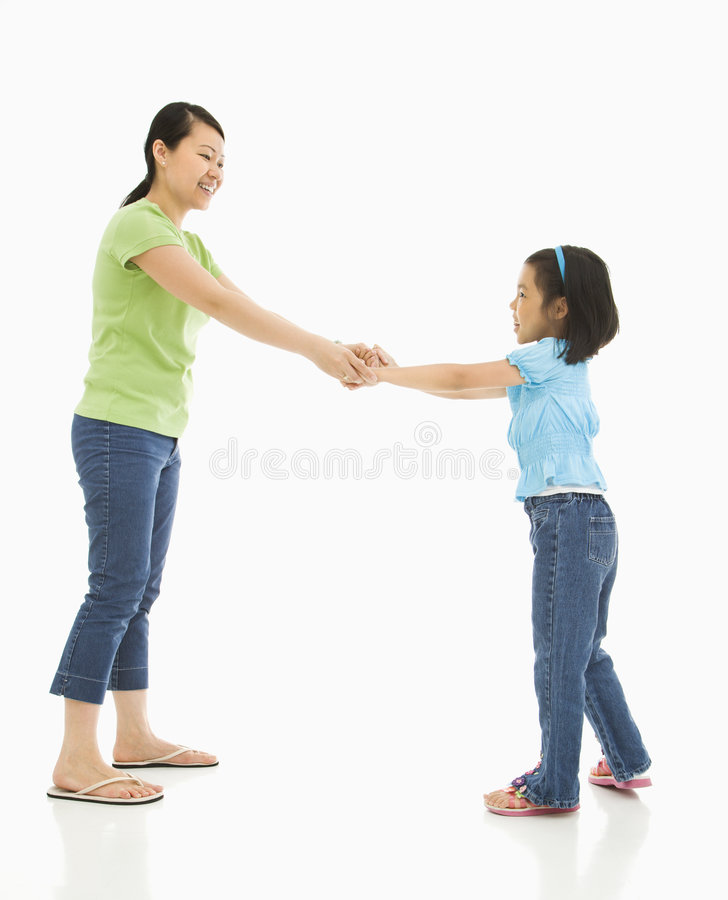 Moeder en dochter. stock foto's