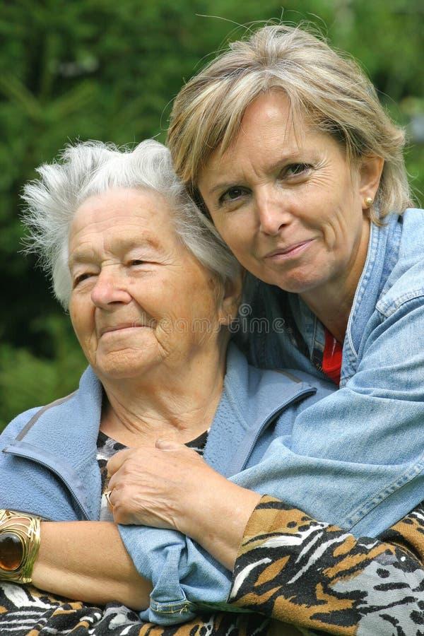 Moeder en dochter [4] stock afbeeldingen