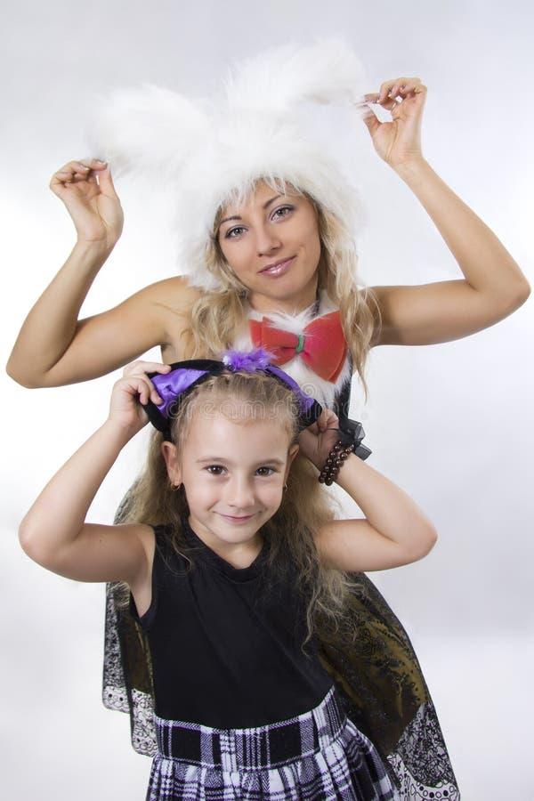 Moeder en dochter van de prinses royalty-vrije stock foto