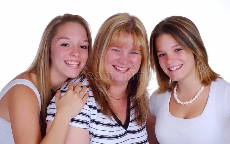 Moeder en Dochters stock afbeeldingen