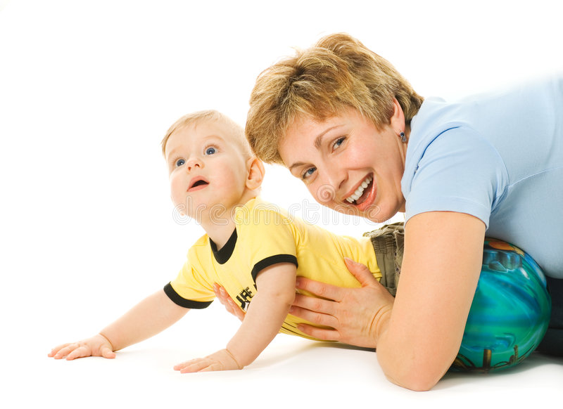 Moeder en een kind royalty-vrije stock foto