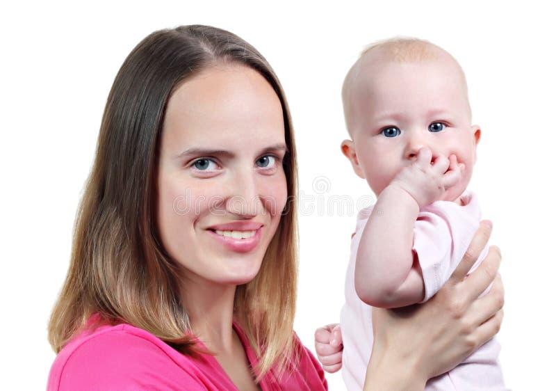 Moeder en haar baby royalty-vrije stock fotografie