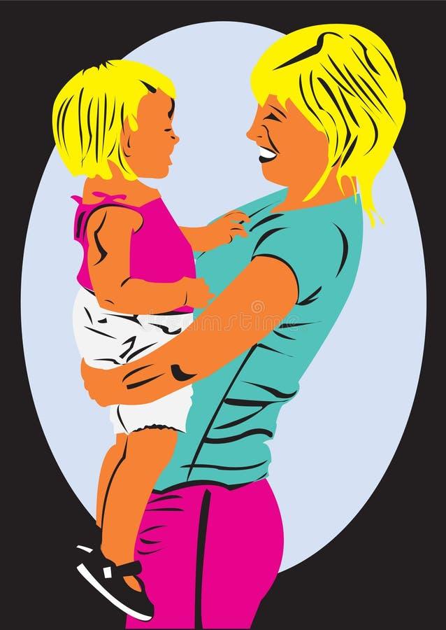Moeder en haar baby royalty-vrije stock afbeelding