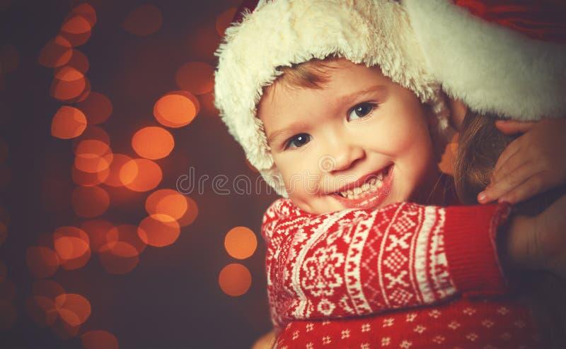 Moeder en het kind van de Kerstmis de magische gelukkige familie royalty-vrije stock foto's