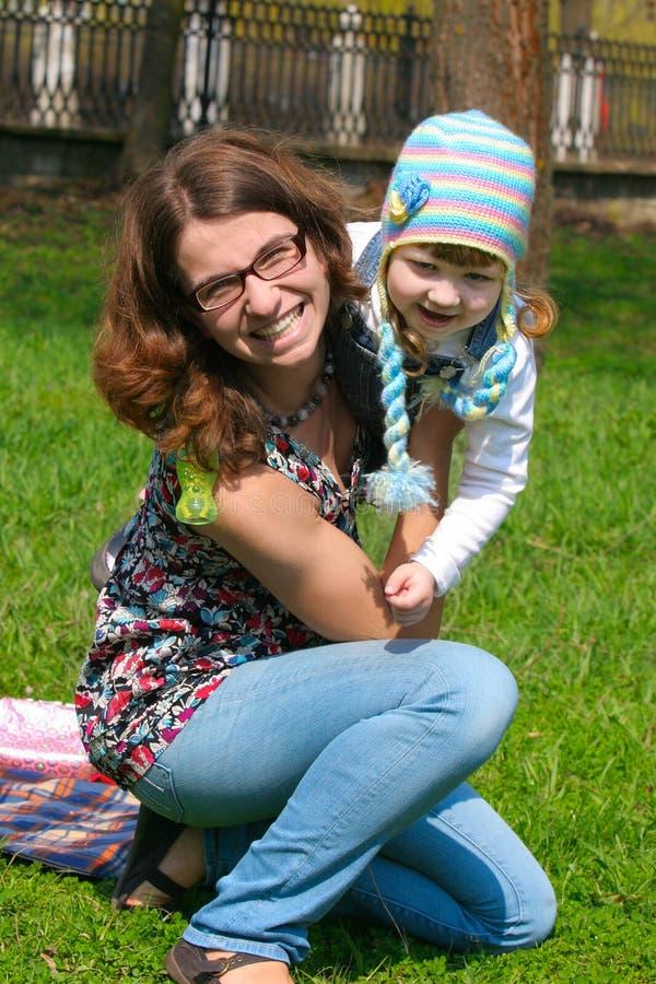 Moeder en kind stock fotografie