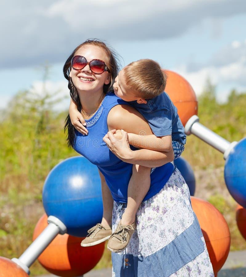 Moeder en Kind stock afbeelding
