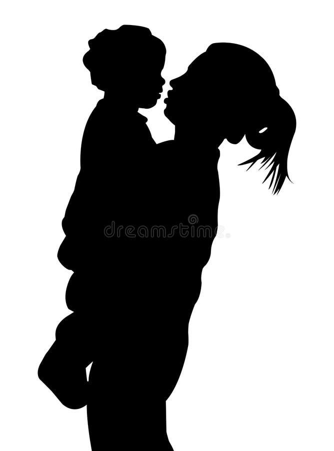 Moeder en kind vector illustratie