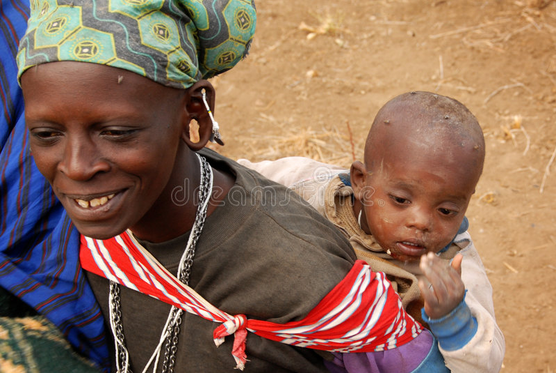 Moeder en Kind stock foto's