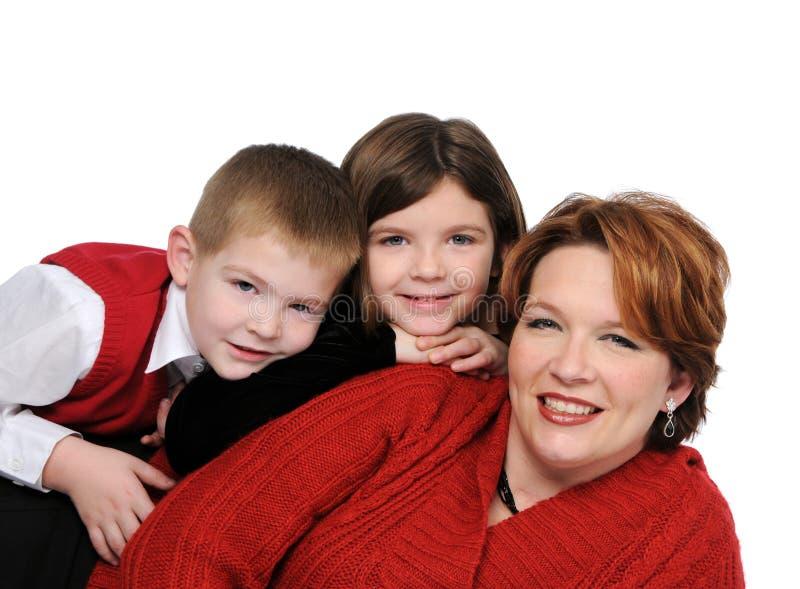 Moeder en kinderen stock foto's