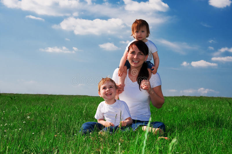 Moeder en Kinderen royalty-vrije stock afbeelding