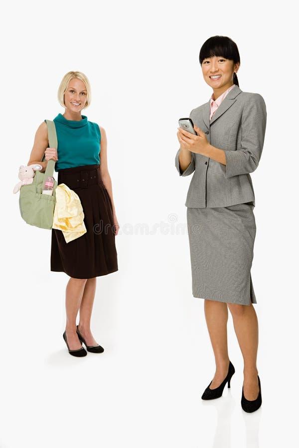 Moeder en onderneemster royalty-vrije stock afbeelding