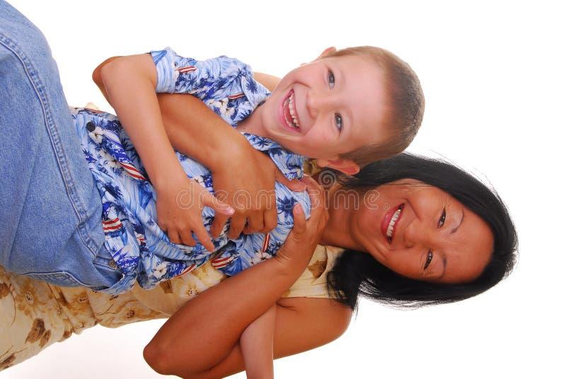 Moeder en Zoon 21 royalty-vrije stock foto's