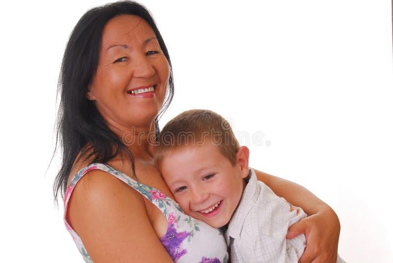 Moeder en Zoon 25 royalty-vrije stock fotografie