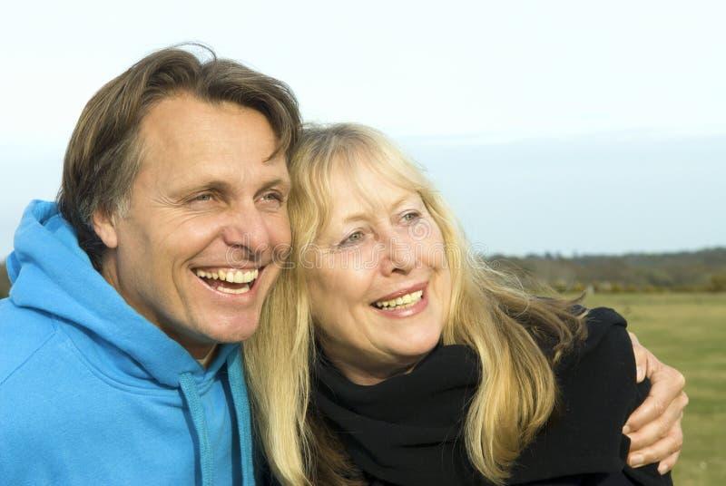 Moeder en zoon. stock afbeelding