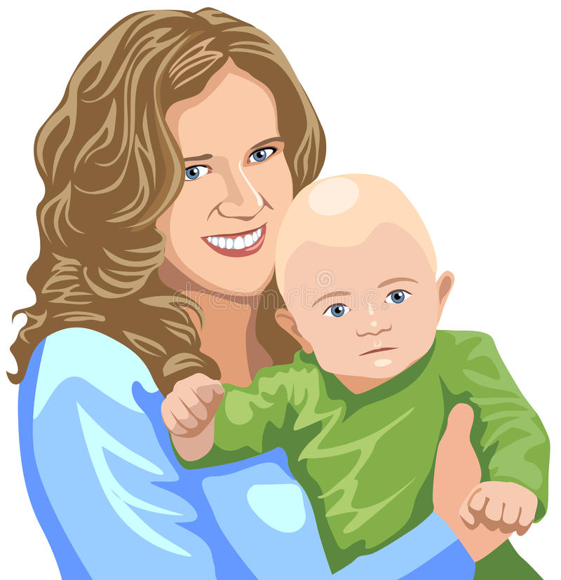 Moeder met baby royalty-vrije stock afbeelding