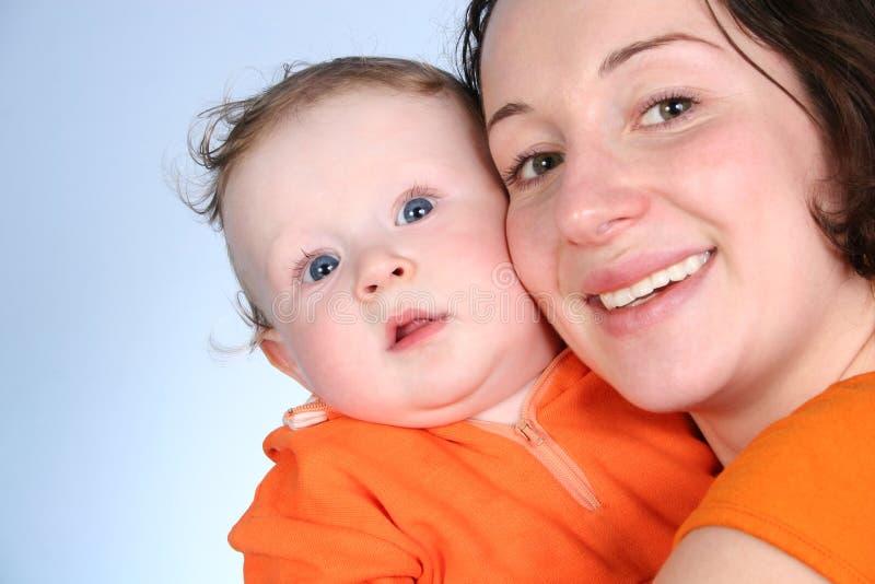 Moeder met baby 2 stock afbeelding