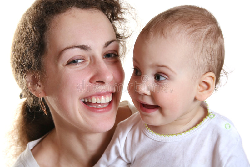 Moeder Met Baby Stock Afbeelding