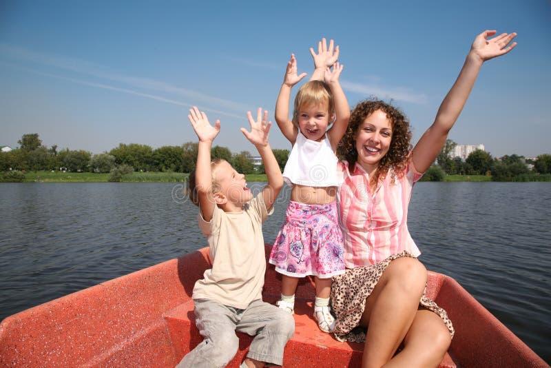 Moeder met de kinderen royalty-vrije stock foto