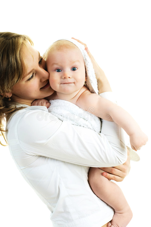 Moeder met een baby stock afbeeldingen