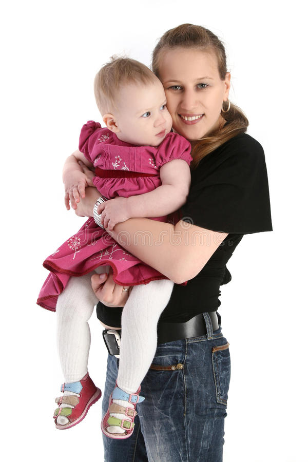 Moeder met haar zuigelingsbaby stock afbeelding