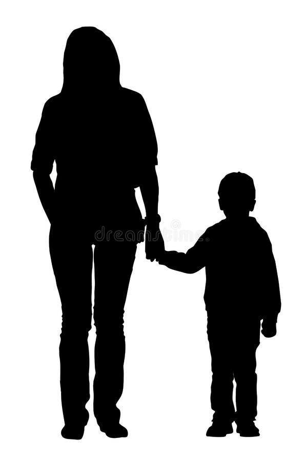 Moeder met het kind royalty-vrije illustratie