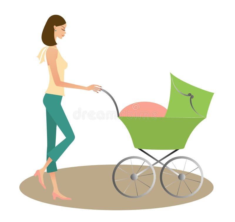 Moeder met kind royalty-vrije illustratie