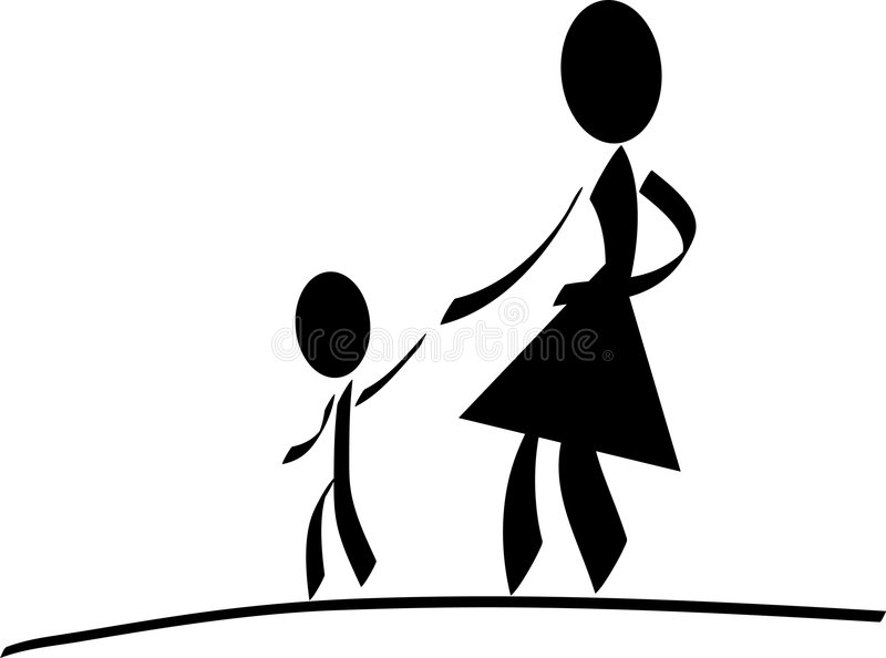 Moeder met kind stock illustratie