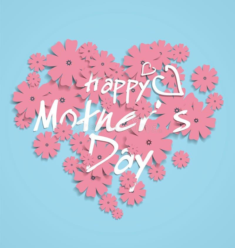 Moeder` s dag-Als thema gehad hart-vormig grafisch ontwerp vector illustratie