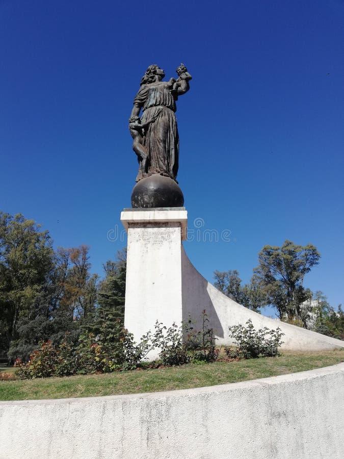 Moeder & x27's monument in Rosario, Argentinië royalty-vrije stock afbeelding