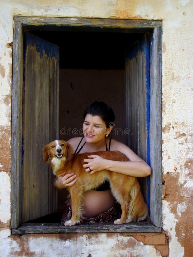 Moederschap in aard royalty-vrije stock fotografie