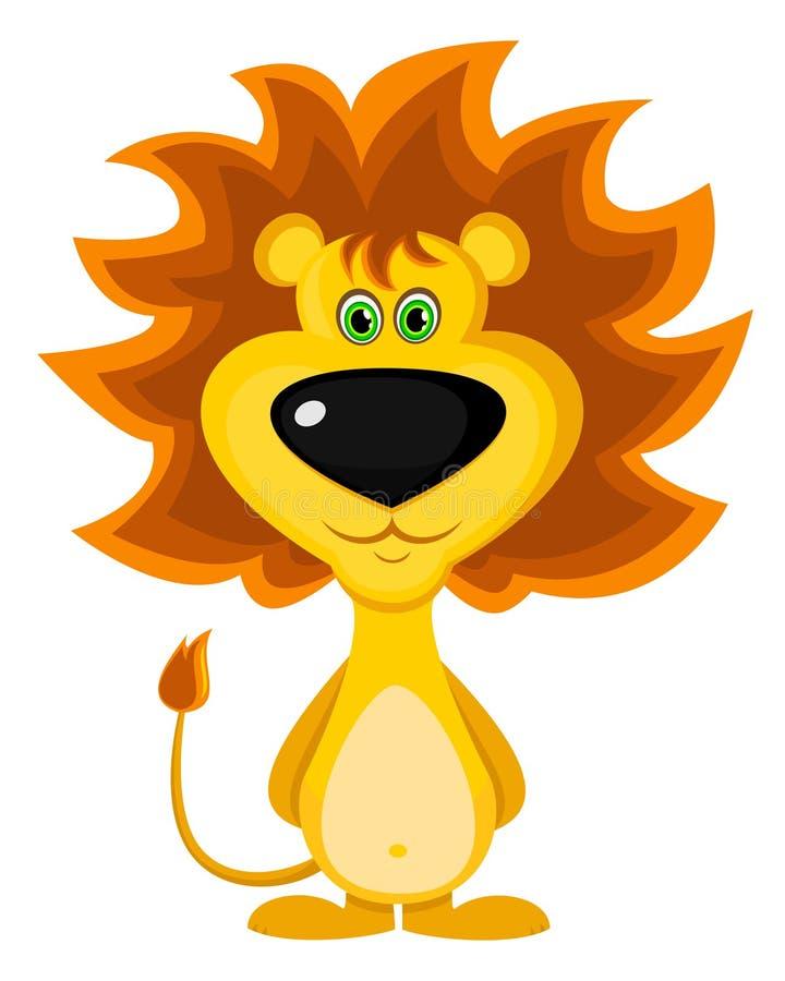 Moedige leeuw stock illustratie